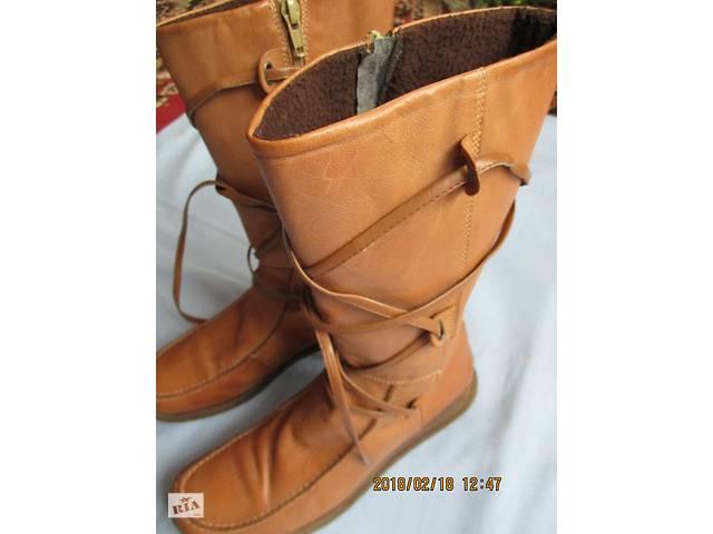Сапоги кожаные New Look Италия мод. GBR 39р- объявление о продаже  в Львове