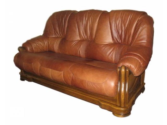 Кожаный классический диван Алькор граф 3-х местный, коричневый цвет- объявление о продаже  в Києві