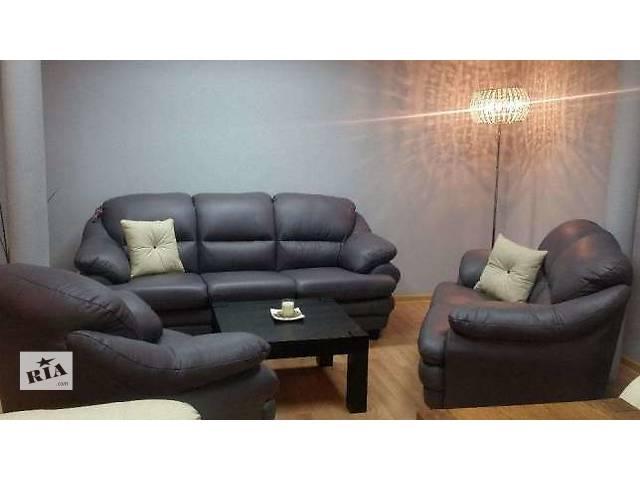 бу кожаный комплект Sara.мягкая кожаная мебель,кожаный диван Sara в Дрогобыче
