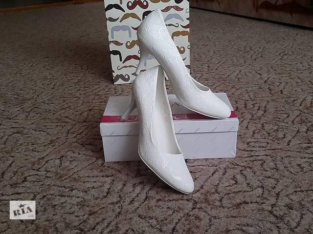 Красивые туфли свадебные. 40 размер. Стелька 26 см.- объявление о продаже  в Николаеве