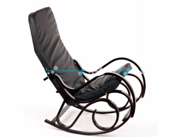 бу Кресло качалка Calviano (черный) новые. Нет в наличии! в Львове