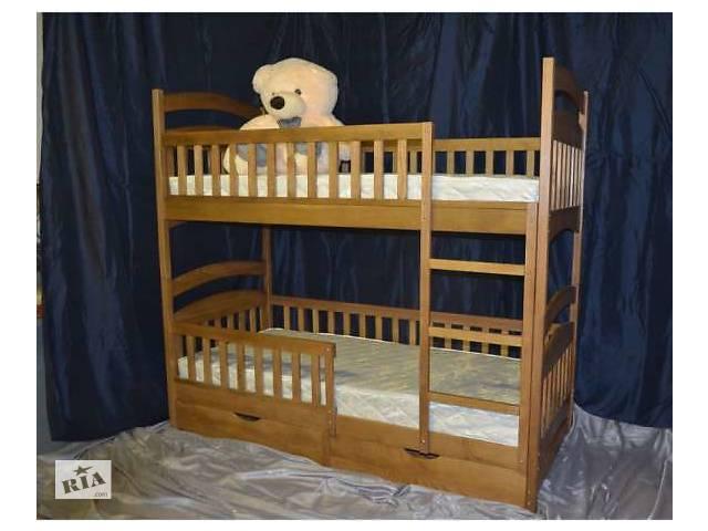 бу Кровать двухъярусная детская трансформер новая Карина ноль с ольхи деревянная в Киеве