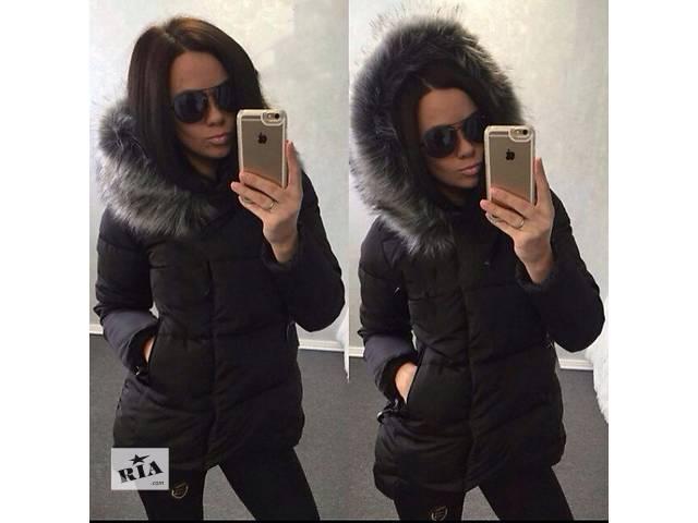 купить бу Куртка с мехом чернобурки в Одессе