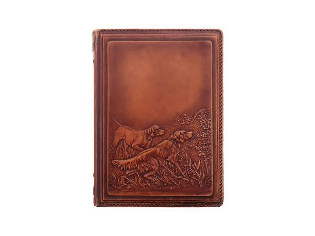 Кожаный ежедневник не датированный BST 260062 А6 10х14 см. Охота- объявление о продаже  в Киеве
