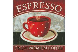 """Набор для творчества Алмазная мозаика Идейка """"Премиум кофе""""  40*40 см."""