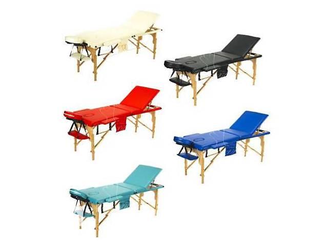 купить бу Масажний стіл дерев'яний Польща 2-х сегментний стіл для масажу в Запоріжжі