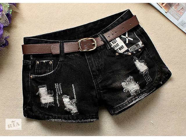 продам Черные, рваные, короткие джинсы-(Feminino) для женщин бу в Виннице