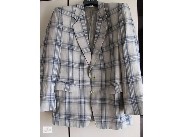 Льняной стильный летний жакет пиджак в клетку- объявление о продаже  в Киеве