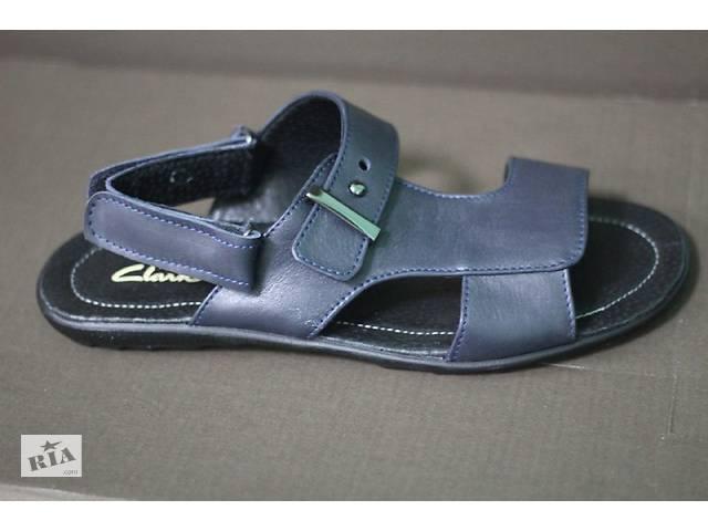 02025cbf0b5c Clarks 05с cиние мужские сандалии из натуральной кожи - Мужская ...