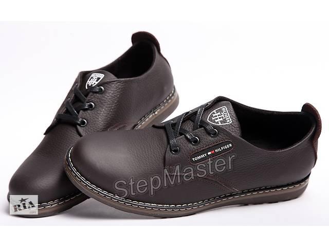 купить бу Шкіряні чоловічі туфлі Tommy Hilfiger коричневі в Вознесенську 09cbe429aafb9