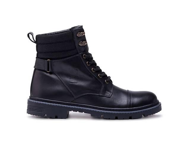 бу Мужские кожаные зимние ботинки Bastion  black в Одессе