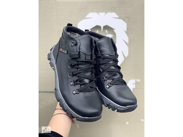 продам Мужские кожаные зимние ботинки К 2 черные бу в Хмельницком