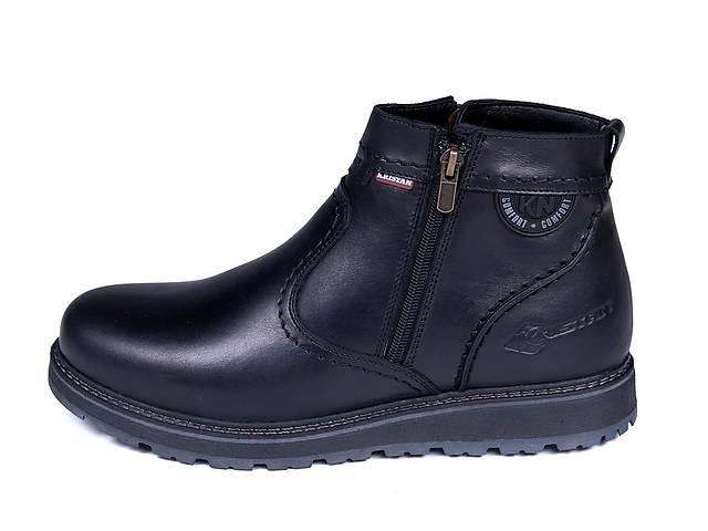 продам Мужские кожаные зимние ботинки Kristan City Traffic Black бу в Одессе
