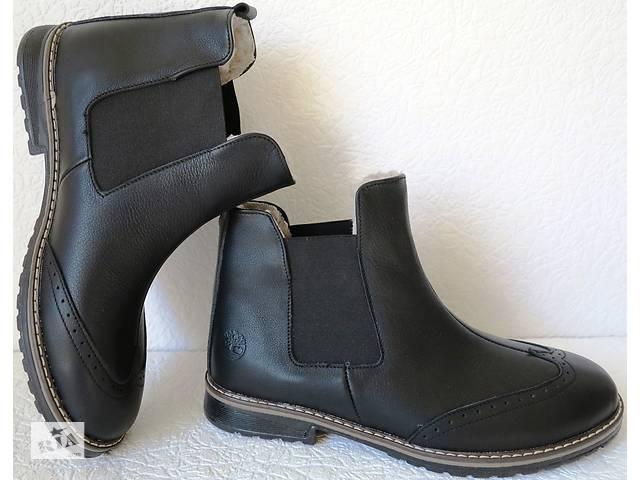 бу Мужские стильные ботинки в стиле Timberland челси натуральная кожа мех зимние оксфорд men  в Україні