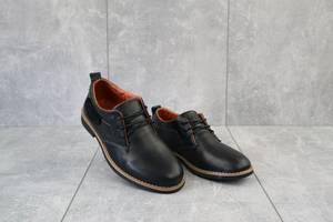 Подростковые туфли кожаные весна/осень черные Yuves М6