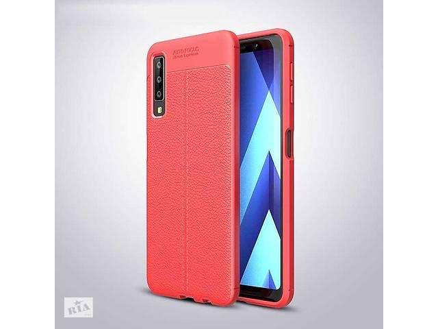 бу Чехол для Samsung A750 / A7 2018 силикон Original Auto Focus Soft Touch красный в Києві