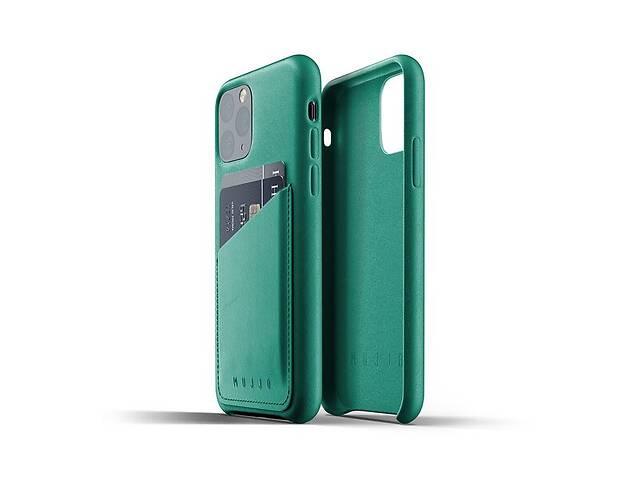 купить бу Чeхол MUJJO для iPhone 11 Pro Full Leather Wallet,Alpine Green в Киеве