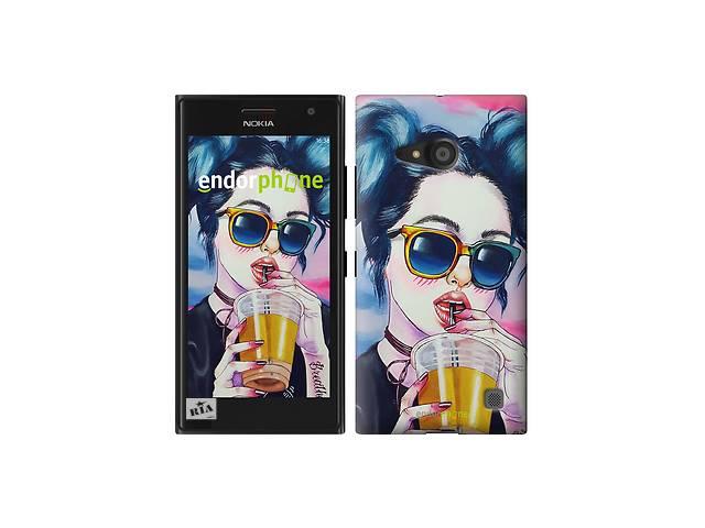 бу Чехол на Nokia Lumia 730 Арт-девушка в очках 3994m-204 в Одессе
