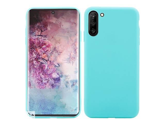 купить бу Чехол Soft Touch для Samsung Galaxy Note 10 (N970) силикон бампер мятно-голубой в Киеве