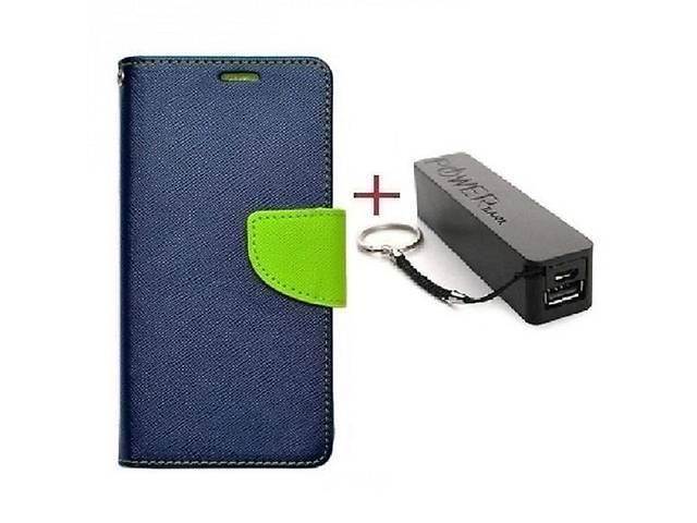 бу Комплект чехол книжка Goospery для HTC DESIRE 12 синий + Внешний аккумулятор Powerbank 2600 mAh в Киеве
