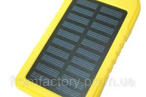 Power Bank (Solar) Переносной аккумулятор на солнечной батарее со светодиодом (5000 mAh):Желтый