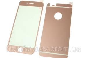 Стекло защитное цветное  2-х стор. IPhone 6/6s:Pink