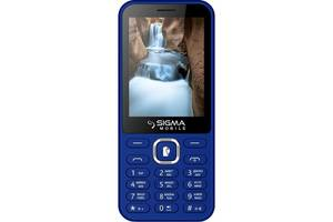 Мобильный телефон Sigma mobile X-style 31 Power Dual Sim Blue; 2.8 (320х240) TN / клавиатурный моноблок / MediaTek MT...
