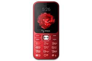 Мобильный телефон Sigma mobile X-style 32 Boombox Dual Sim Red; 2.4 (320х240) TN / клавиатурный моноблок / MediaTek M...