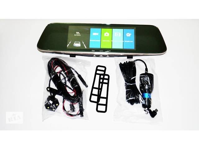 """купить бу DVR L1002С Full HD Зеркало с видео регистратором с камерой заднего вида. 7"""" Сенсорный экран в Виннице"""