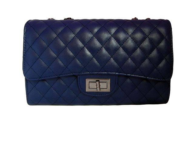 купить бу Модная женская сумочка-клатч Chanel цвет темно-синий в Киеве