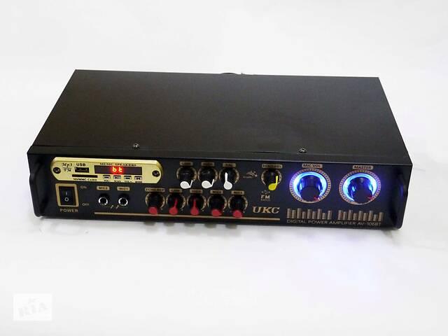 купить бу Усилитель звука UKC AV-106BT Bluetooth  USB + КАРАОКЕ 2микрофона в Днепре (Днепропетровск)