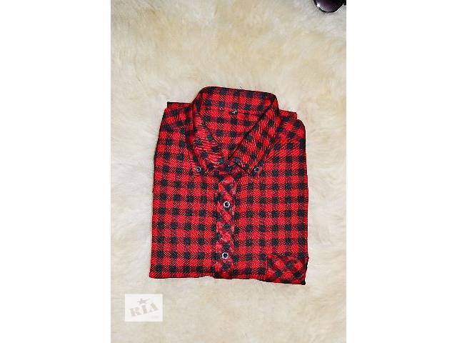 Мужская теплая рубашка в клеточку - объявление о продаже  в Виннице