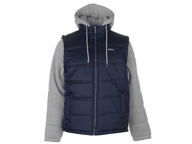 купить бу Куртка Lee Cooper Sweater Sleeve Jacket Mens XXL Серый с синим (60051922510) в Киеве