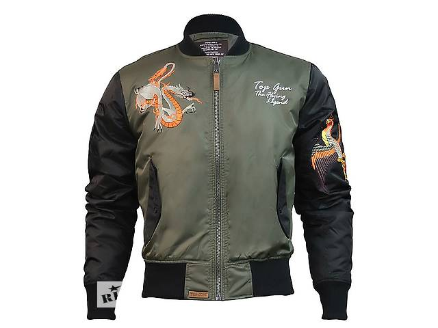 продам Куртка Top Gun The Flying Legend Bomber Jacket (оливкова) бу в Львові