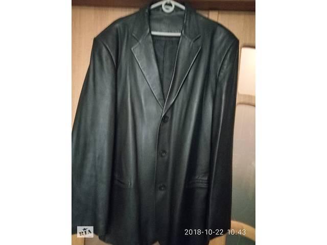 Пиджак кожаный мужской б/у в хорошем состоянии 56 р-р рост 180-185,- объявление о продаже  в Києві