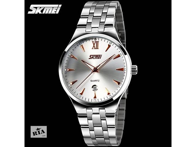 Мужские часы SKMEI Silver gold 93bc09b303d8d