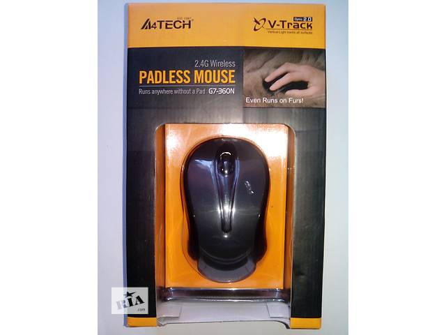 продам Мышка безпроводная A4 Tech G7-360N V-Track Wireless Glossy Grey бу в Киеве
