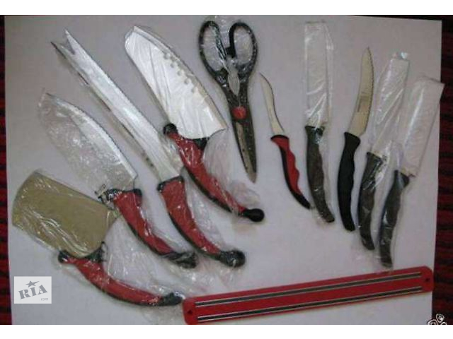 Набор кухонных ножей и магнитный держатель (Contour Pro Knives)- объявление о продаже  в Львове