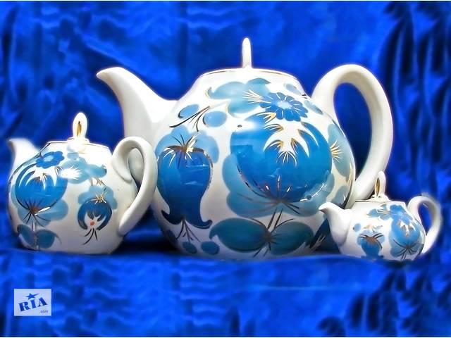 купить бу Набор из 3х заварных чайников. Стиль псевдо ля Рюсс. в Одессе