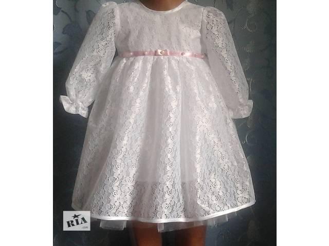 Нарядное детское платье, белое, модель № 23- объявление о продаже  в Хмельницком