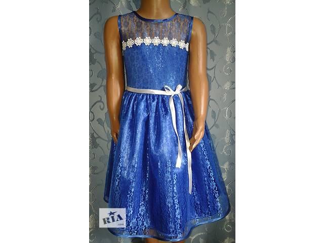 купить бу Нарядное детское платье, синее, модель № 21 в Хмельницком