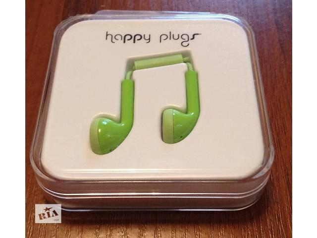 продам Наушники гарнитура проводная Happy Plugs Headphones In-Ear Green (7719) новая бу в Киеве