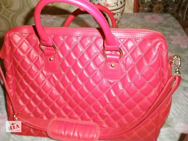 бу Новая,женская,стильная,кожаная сумка для ноутбука&нетбука,красный цвет. в Киеве