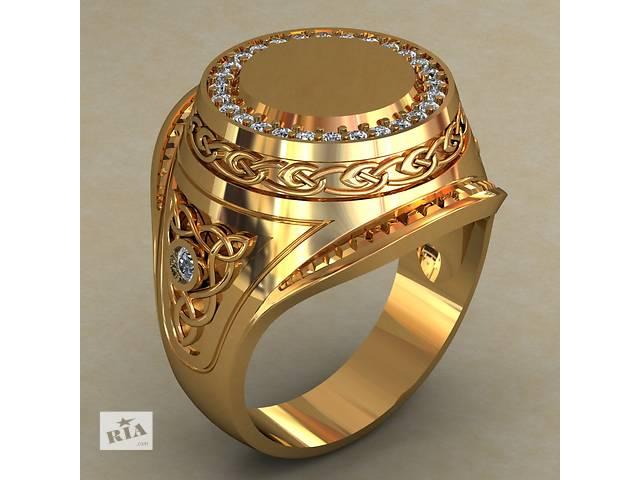 продам Новый,  серебряный в позолоте перстень. бу в Киеве