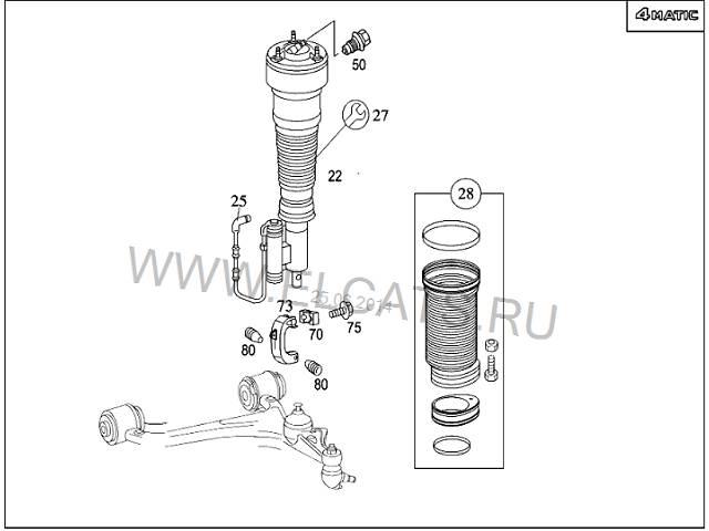 купить бу новый Задний/передний мост/балка, подвеска, амортиз Амортизатор задний/передний Легковой Mercedes S-Class в Луцке