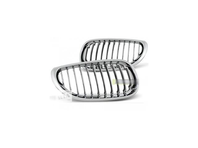 купить бу Ноздри решетка радиатора тюнинг BMW E60 E61 хром GRBM08 БМВ Е60 Е61 в Луцке
