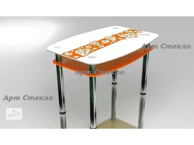 Обеденные стлоля из стекла с рисунком- объявление о продаже  в Дружковке