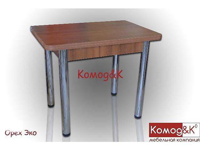Обеденный раскладной стол на хромированных ногах цвет Орех Эко- объявление о продаже  в Дружковке