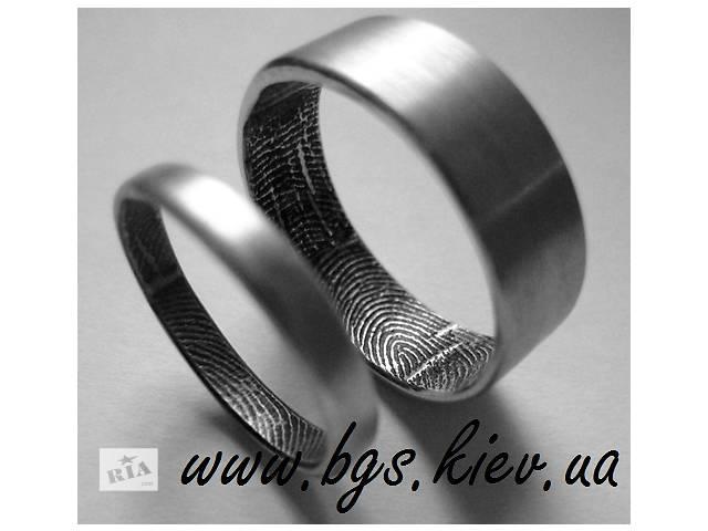 бу Обручальные кольца с отпечатком пальца в Киеве