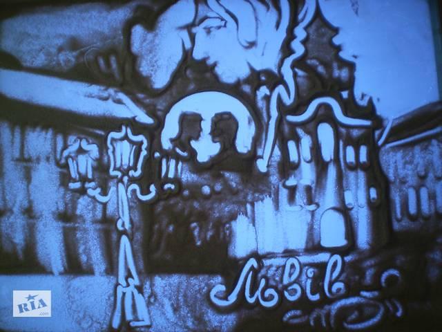 бу Шоу пісочна анімація - подарунок на  празник на свято весілля, ювілей, корпоратив, день народження  в Україні